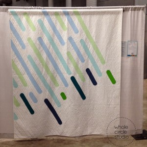 """April Showers"" by Sheri Cifaldi-Morrill at QuiltCon 2015"