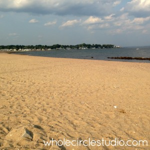taking a break from the studio to take a walk ::: it's 90 degrees and still summer, but have the beach to myself