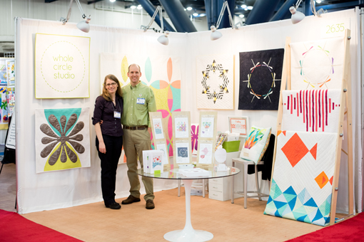Jason and me in Whole Circle Studio's debut booth ::: photo courtesy Craftsy