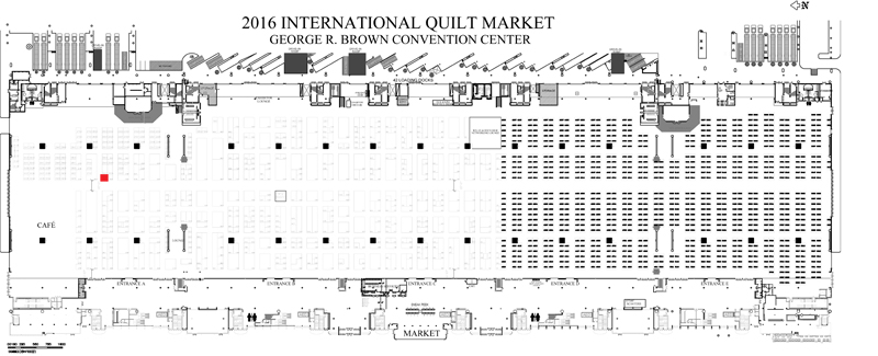 floor plan of Quilt Market 2016 ::: see that little red square—that was my booth