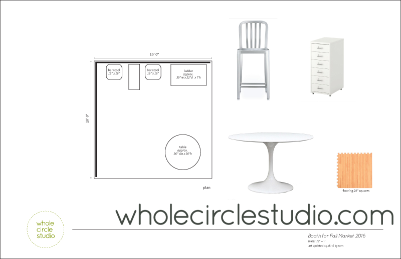 floor plan of Whole Circle Studio booth ::: completed September 2016
