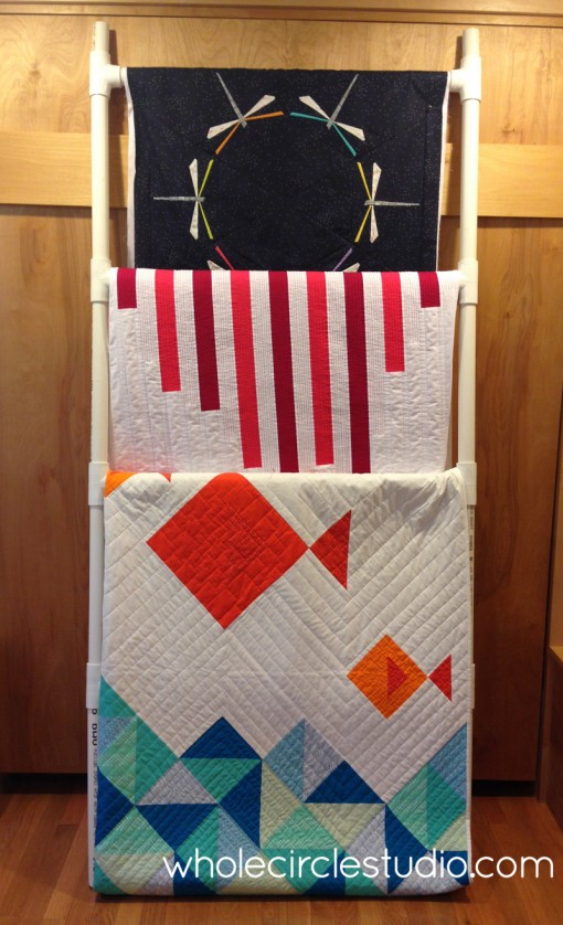 quilt ladder mockup made to confirm measurements