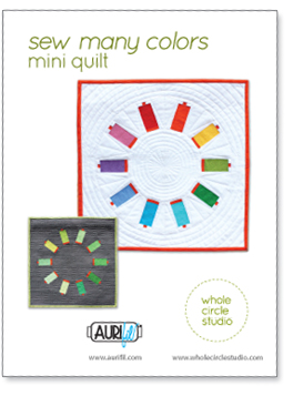 Sew Many Colors — a free foundation paper piecing pattern. Make a mini quilt for your sewing space.