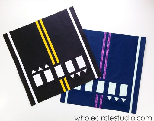 Road Work quilt pattern by Sheri Cifaldi-Morrill | whole circle studio.Perfect for a kid's bed, a play room or to use at a quilt show. Instructions for 4 sizes. Available at shop.wholecirclestudio.com