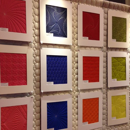 I loved seeing Jacquie Gerhing's quilted samples in the Paintbrush Studio. I recently discovered their solids and have really enjoyed working with them.