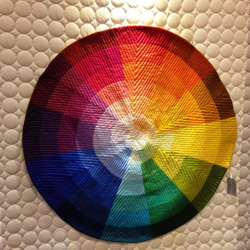 Color Wheel quilt by Kim Eichler-Messmer using Painter's Palette Solids.