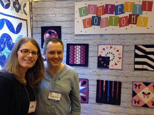 I'm so excited for Christopher Thompson! His booth introducing his debut collection (and complementary Aurifil sets) was beautiful! You can find his collection, Blue Carolina, in shops later this year. I also had a chance to visit the mini I made for his booth!