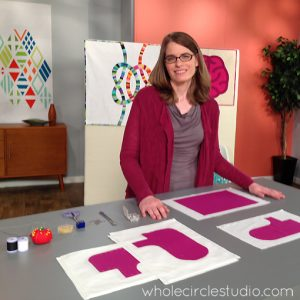 Day 72: 365 Days of Handwork Challenge — Today I did my handwork while filming segments for Seasons 2 and 3 of Fresh Quilting - stay tuned for details! Whole Circle Studio — 365 Days of Handwork Challenges