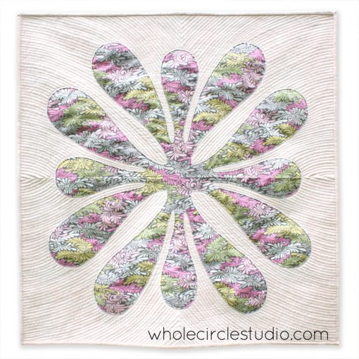 "Big Island Blossom pattern by Sheri Cifaldi-Morrill | Whole Circle Studio. Sheri will be teaching ""Hawaiian Applique Made Modern"" at QuiltCon 2018."