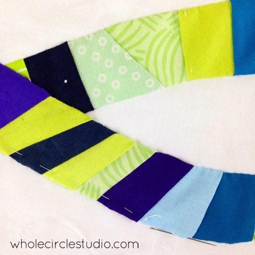 Day 86: 365 Days of Handwork Challenge — Final stitch on this mini quilt! Whole Circle Studio — 365 Days of Handwork Challenges