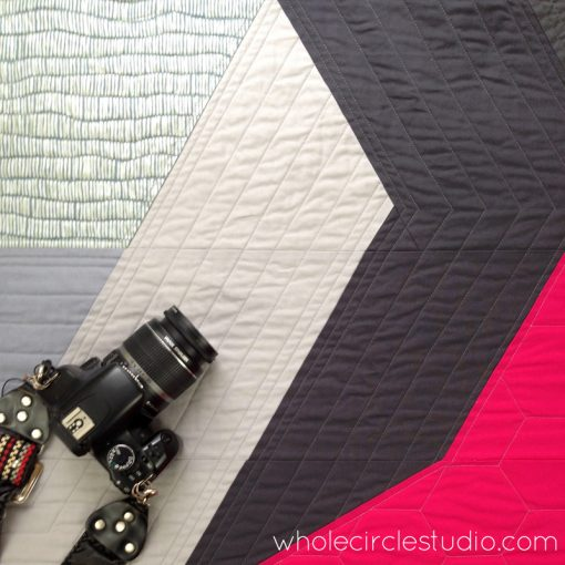 Detail of Aperture quilt by Sheri Cifaldi-Morrill | www.wholecirclestudio.com Perfect gift for a photographer or photography enthusiast.