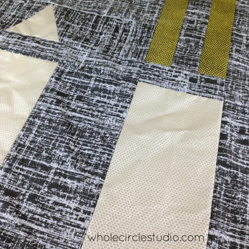 Road Work quilt pattern by Sheri Cifaldi-Morrill | whole circle studio.Perfect for a kid's bed, a play room or to use at a car show. Instructions for 4 sizes. shop.wholecirclestudio.com