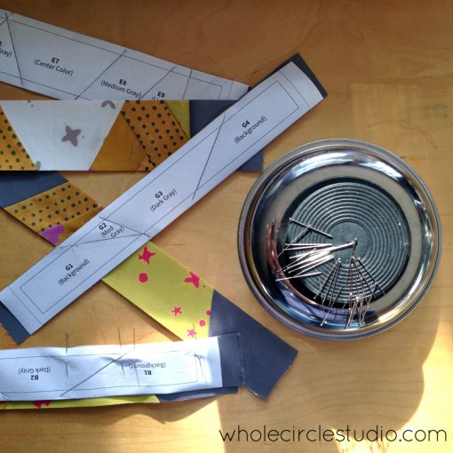Foundation Paper Piecing Shutter Snap. Design and pattern by Sheri Cifaldi-Morrill   www.wholecirclestudio.com   Fabric: Chroma by Alison Glass, Andover Fabrics