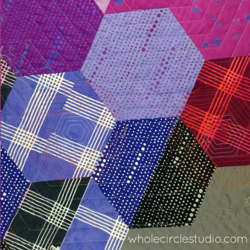 Detail: Quilted back of Shutter Snap quilt. Design and pattern by Sheri Cifaldi-Morrill | www.wholecirclestudio.com | Fabric: Chroma by Alison Glass, Andover Fabrics