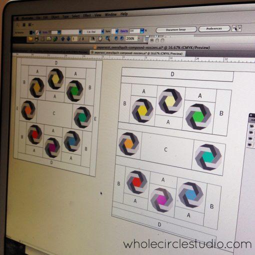 Designing Shutter Snap quilt by Sheri Cifaldi-Morrill | www.wholecirclestudio.com