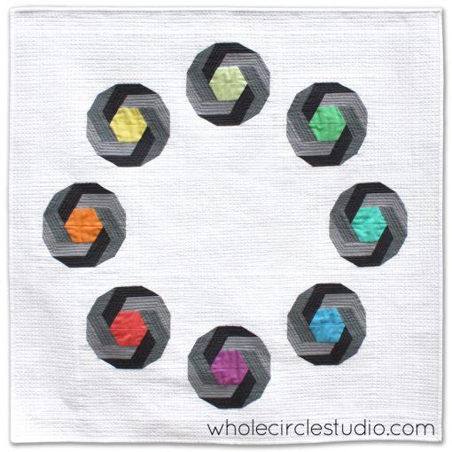 Shutter Snap Quilt. Design and pattern by Sheri Cifaldi-Morrill   www.wholecirclestudio.com