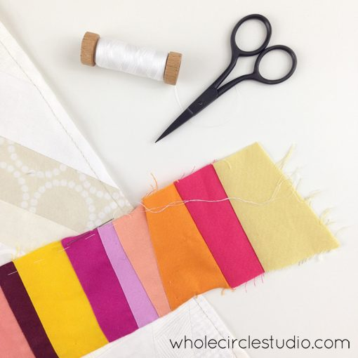 Day 106: 365 Days of Handwork Challenge — Applique start from the edge. Whole Circle Studio — 365 Days of Handwork Challenges
