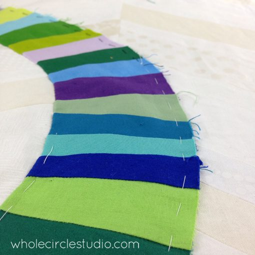 Day 115: 365 Days of Handwork Challenge — Basting the blues. Whole Circle Studio — 365 Days of Handwork Challenges