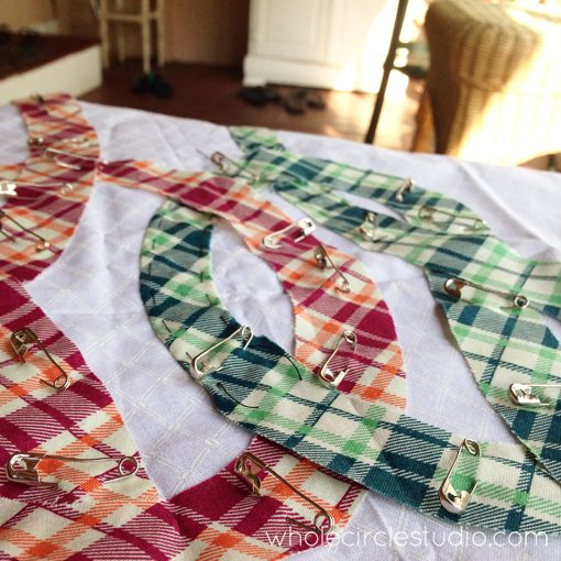 Day 134: 365 Days of Handwork Challenge —   New Friendship Knot Quilt started with Denyse Schmidt prints! Whole Circle Studio — 365 Days of Handwork Challenges