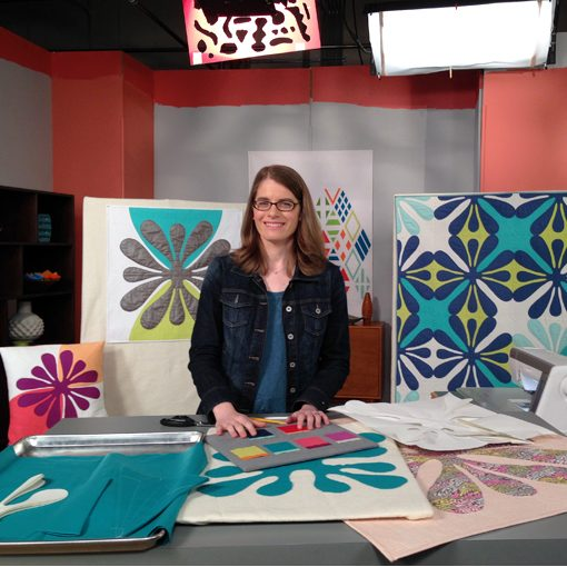 On the set of Fresh Quilting Season 2: Designing your own Hawaiian inspired patterns by Sheri Cifaldi-Morrill | Whole Circle Studio