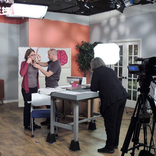 On the set of Fresh Quilting. Sheri Cifaldi-Morrill   Whole Circle Studio