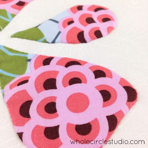 Day 141: 365 Days of Handwork Challenge — A few petals appliquéd. Whole Circle Studio — 365 Days of Handwork Challenges
