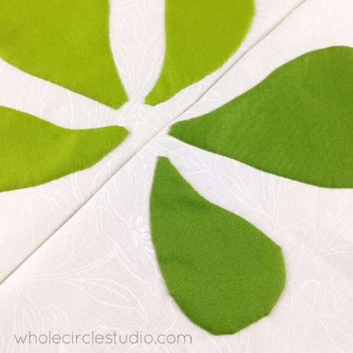 Day 159: 365 Days of Handwork Challenge — Subtle green blocks complete. Whole Circle Studio — 365 Days of Handwork Challenges