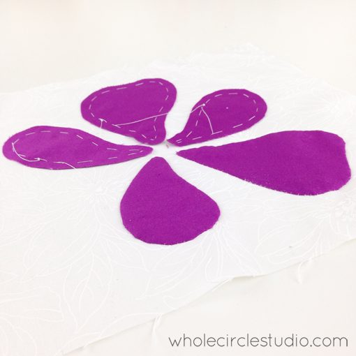 Day 163: 365 Days of Handwork Challenge — Got 2 out of 5 petals done while watching tv. Whole Circle Studio — 365 Days of Handwork Challenges