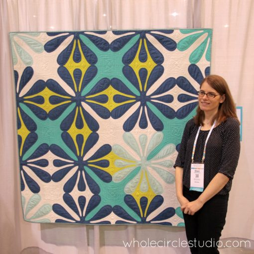 QuiltCon 2017—Big Island Blossoms by Sheri Cifaldi-Morrill | Whole Circle Studio. A modern, Hawaiian-inspired quilt.