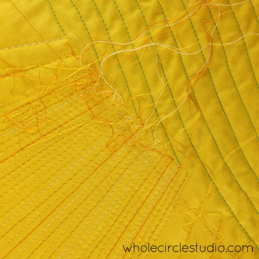 Day 172: 365 Days of Handwork Challenge — Burying threads so I can quilt more. Whole Circle Studio — 365 Days of Handwork Challenges