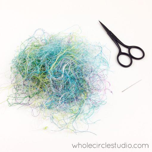 Day 194: 365 Days of Handwork Challenge — Thread remnants. Burying complete. Whole Circle Studio — 365 Days of Handwork Challenges