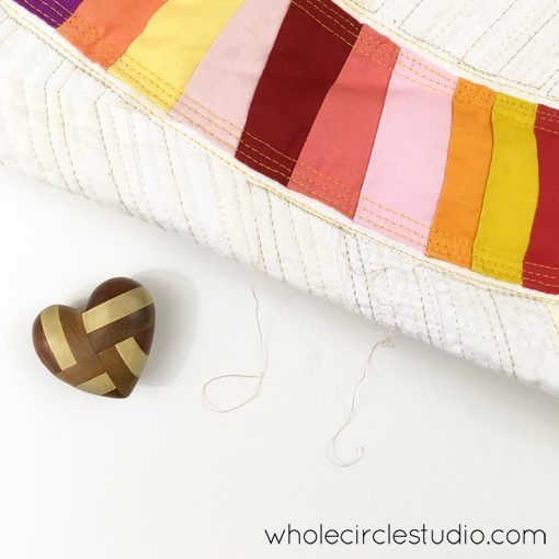 Day 212: Still chugging along quilting and cleaning up threads. Whole Circle Studio — 365 Days of Handwork Challenges