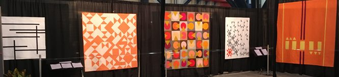 Modern Quilt Showcase at International Quilt Market and Festival, 2017 in Houston