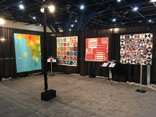 Modern Quilt Showcase at International Quilt Market and Festival, 2017 in Houston, Texas. Photo 2