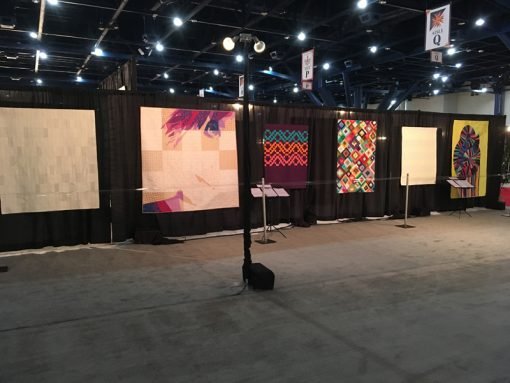 Modern Quilt Showcase at International Quilt Market and Festival, 2017 in Houston, Texas. Photo 3
