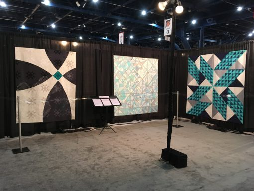 Modern Quilt Showcase at International Quilt Market and Festival, 2017 in Houston, Texas. Photo 5