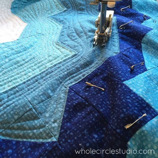 Day 258: / Finished my letters quilt and moved on to quilting and burying threads on a new quilt. Whole Circle Studio — 365 Days of Handwork Challenges