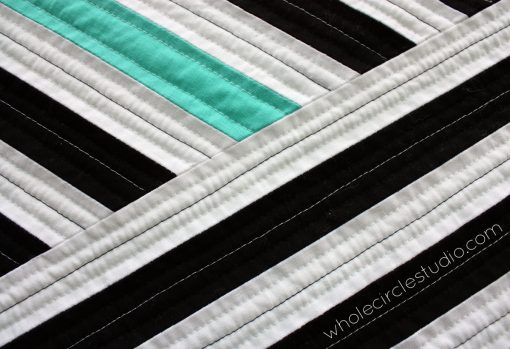 Detail of Cabana quilt. Designed, pieced and quilted by Sheri Cifaldi-Morrill | wholecirclestudio.com