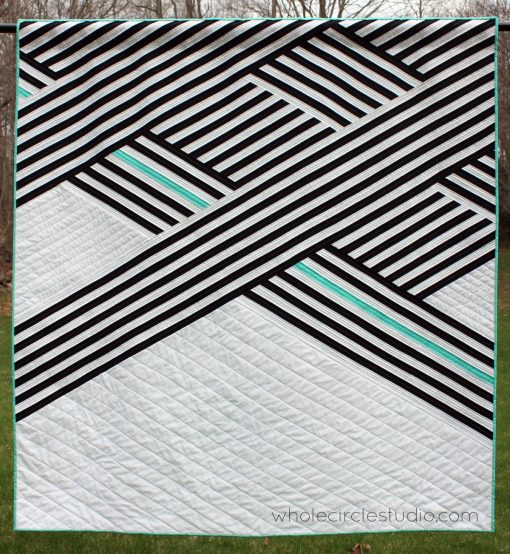Cabana quilt. Designed, pieced and quilted by Sheri Cifaldi-Morrill | wholecirclestudio.com