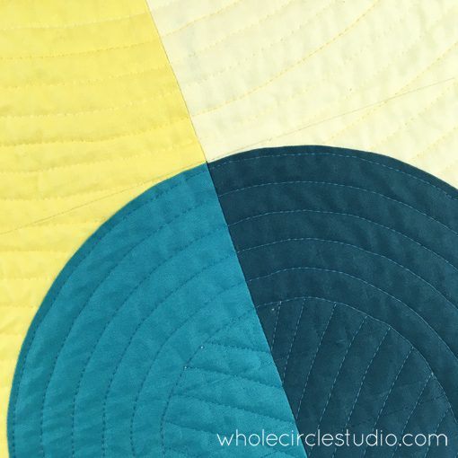 Modern Quilting | Walking Foot Quilting | Quilt | Drunkard's Path Quilt | Whole Circle Studio — 365 Days of Handwork Challenges