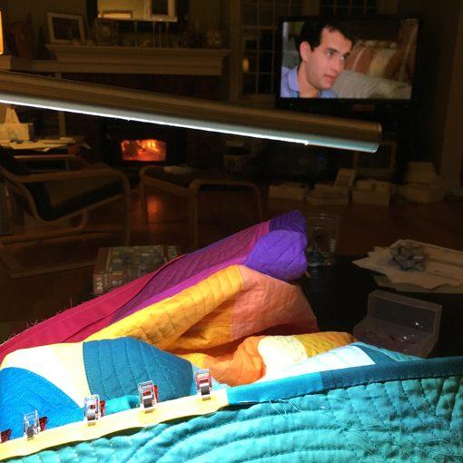 Modern Quilting   Drunkard's Path Quilt   Quilt Binding   Matching binding   Handsewing Binding   Whole Circle Studio — 365 Days of Handwork Challenges