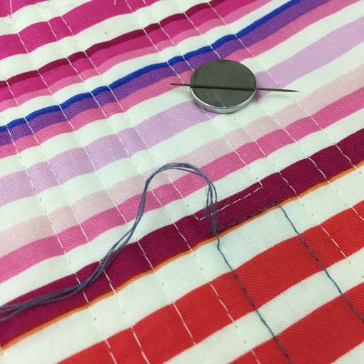 Modern Love | Quilt | Rainbow Quilt | Burying Threads | Straight Line Quilting | Walking Foot Quilting | Whole Circle Studio — 365 Days of Handwork Challenges