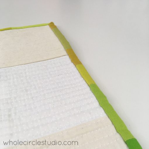 """Day 262: / Still hand binding my """"You Are Enough"""" quilt. Whole Circle Studio — 365 Days of Handwork Challenges"""