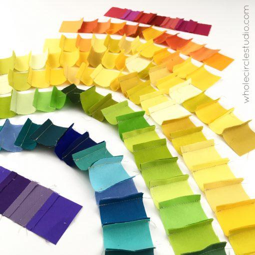 Scrap quilt | Rainbow | Scraps | Quilt | Scrappy