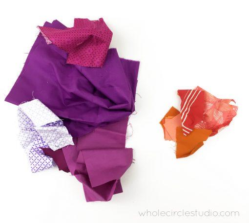 Fabric Scraps   Scrap Organization   Rainbow Fabric