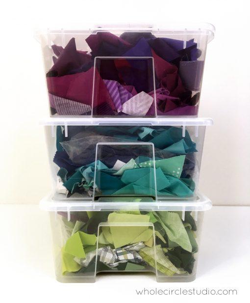 Fabric Scraps | Scrap Organization | Rainbow Fabric