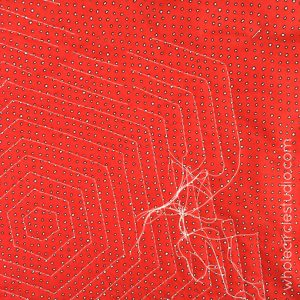 Ladybug Loop Mini Quilt | Quilt | Rainbow Quilt | Burying Threads | Straight Line Quilting | Walking Foot Quilting | Whole Circle Studio — 365 Days of Handwork Challenges