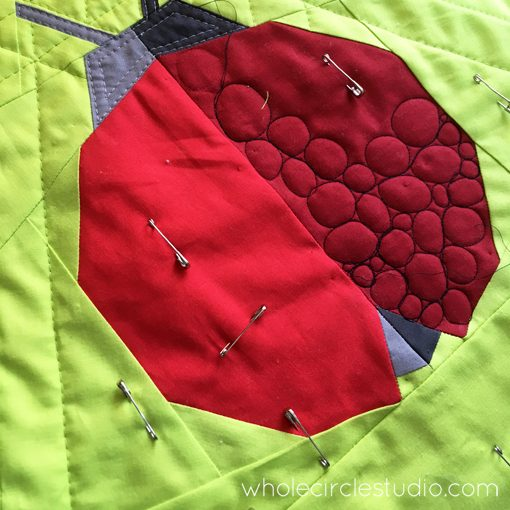 Ladybug | quilt | modern quilt | free motion quilting | process | creative | kid | mini quilt