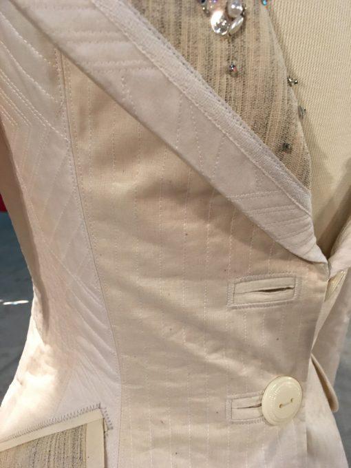 wearable art, Gilbert Muniz, handwork, embellishment, fashion, machine quilted, silk, quilted, coat