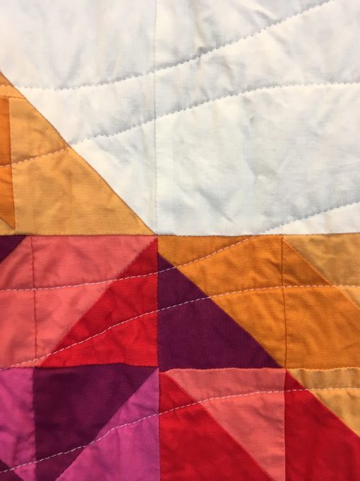 Knoxville Modern Quilt Guild | QuiltCon 2018 | star | slanted star | Bonnie Hunter | half square triangles | quilt | modern | modern traditionalism